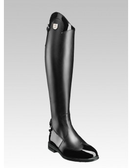Patent leather detail tall RIDING BOOTS Marilyn