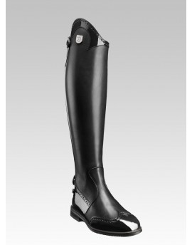 Punched patent leather details tall RIDING BOOTS Marilyn